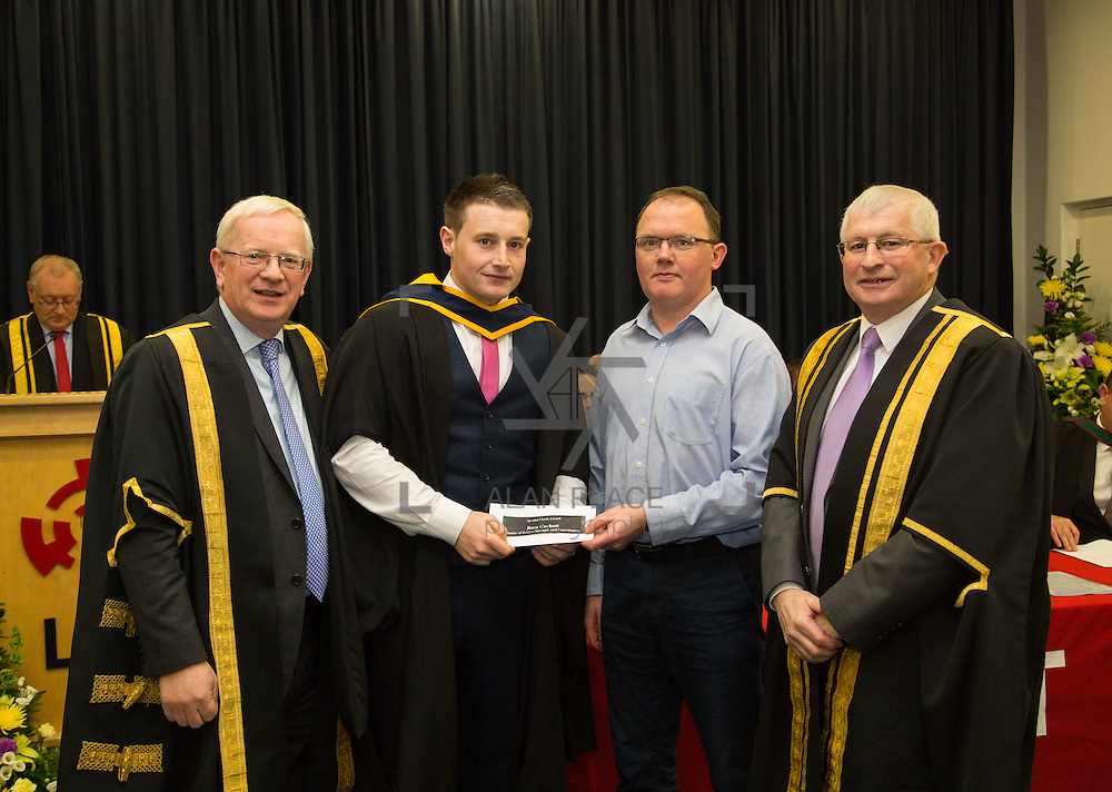 18.11.2016       <br /> Speaking at conferring ceremonies in Thurles, the President of Limerick Institute of Technology (LIT) has welcomed the publication of the Financial Review of the Institutes of Technology and called for the immediate implementation of actions to support the Technological Education sector. <br /> <br /> MSc in Strength and Conditioning  graduate Ross Corbett receives A Special Merit Award for excellence and Best Dissertation from  in the presence of Prof. Vincent Cunnane President LIT and Mr. Simon Moroney, Governing Body LIT. Picture: Alan Place