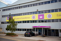 © Licensed to London News Pictures. 02/10/2017. LUTON, UK.  General view of the engineering building of Monarch Airlines at Luton Airport. The company has collapsed into administration today immediately grounding flights and ruining the holiday plans of thousands of people.  Photo credit: Cliff Hide/LNP