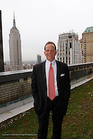 Ed Piccinich executive vice president of SL Green Realty Corp. all of management, construction, underwriting at 100 Park Avenue where the company has created green roof tops. .Shot on April 20, 2009..Photo Credit; Rahav Segev / Photopass