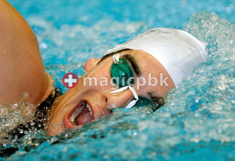 David KARASEK of Switzerland competes in the men's 1500m freestyle fastest heat on day three at the Swiss Long Course Swimming Championships at the Les Vernets in Geneva, Switzerland, Saturday May 20, 2006. (Photo by Patrick B. Kraemer / MAGICPBK)