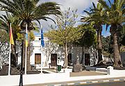 Ayuntamiento town hall building in Yaiza, Lanzarote, Canary Islands, Spain