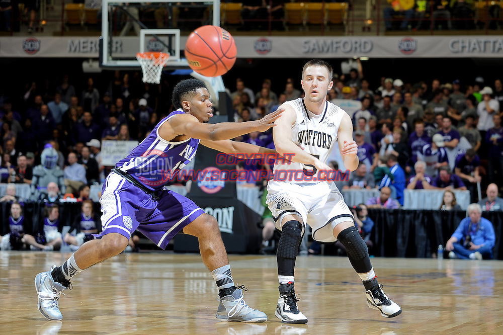 8 March 2015: The Southern Conference hosted their 2015 basketball championship, Sunday in Asheville, North Carolina.  Wafered 67, Furman 64. Credit: Todd Drexler/SoConPhotos.com