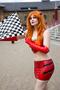 UNITED KINGDOM, London: 24 May 2019 <br /> Cosplay fan Amy Kemp, aged 33, dresses as Asuka at the ExCeL Centre in London today for the MCM London Comic Con. Thousands of cosplay enthusiasts will come to the ExCeL Centre across the next three days to enjoy the convention.