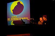 Presentatie Kuifje - De Zonnetempel - De Musical in het Wereldmuseum in Rotterdam.<br /> <br /> Op de foto:<br /> <br />  Dirk Brosse - muziek