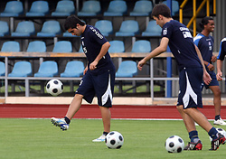 PEDRO ANDRÉS MORALES FLORES at Practice od Dinamo Zagreb day before 1st match of 2nd Qualifying Round of UEFA Champions league between NK Domzale vs HNK Dinamo Zagreb, on July 29, 2008, in Domzale, Slovenia. (Photo by Vid Ponikvar / Sportal Images)