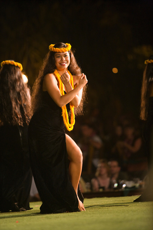 Dancers at the Old Lahaina Luau, Lahina, Maui, Hawaii