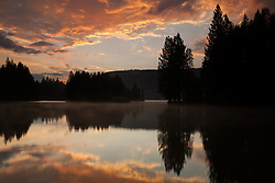 """Donner Lake Sunset 12"" - This sunset was photographed at the East end of Donner Lake, Truckee"