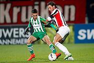 Onderwerp/Subject: Willem II - PEC Zwolle - Eredivisie<br /> Reklame:  <br /> Club/Team/Country: <br /> Seizoen/Season: 2014/2015<br /> FOTO/PHOTO: Mitchell DIJKS (R) of Willem II in duel with Max de BOOM (L) of PEC Zwolle. (Photo by PICS UNITED)<br /> <br /> Trefwoorden/Keywords: <br /> #04 #22 $64 ±1401974349562<br /> Photo- & Copyrights © PICS UNITED <br /> P.O. Box 7164 - 5605 BE  EINDHOVEN (THE NETHERLANDS) <br /> Phone +31 (0)40 296 28 00 <br /> Fax +31 (0) 40 248 47 43 <br /> http://www.pics-united.com <br /> e-mail : sales@pics-united.com (If you would like to raise any issues regarding any aspects of products / service of PICS UNITED) or <br /> e-mail : sales@pics-united.com   <br /> <br /> ATTENTIE: <br /> Publicatie ook bij aanbieding door derden is slechts toegestaan na verkregen toestemming van Pics United. <br /> VOLLEDIGE NAAMSVERMELDING IS VERPLICHT! (© PICS UNITED/Naam Fotograaf, zie veld 4 van de bestandsinfo 'credits') <br /> ATTENTION:  <br /> © Pics United. Reproduction/publication of this photo by any parties is only permitted after authorisation is sought and obtained from  PICS UNITED- THE NETHERLANDS