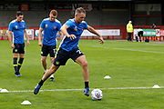 Carlisle United Defender Clint Hill (29) warms up before kick off during the EFL Sky Bet League 2 match between Crawley Town and Carlisle United at the Checkatrade.com Stadium, Crawley, England on 30 September 2017. Photo by Andy Walter.