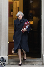 2017-02-08 UK PM Theresa May leaves Downing Street for Prime Minister's Questions