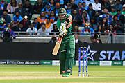 Sabbir Rahman of Bangladesh gets a leading edge which falls safe during the ICC Cricket World Cup 2019 match between Bangladesh and India at Edgbaston, Birmingham, United Kingdom on 2 July 2019.