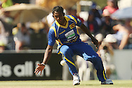 Ajantha Mendis during the first Sunfoil ODI between the Proteas and Sri Lanka played at Boland Stadium in Paarl, South Africa on 11 January 2012. Photo by Jacques Rossouw/SPORTZPICS