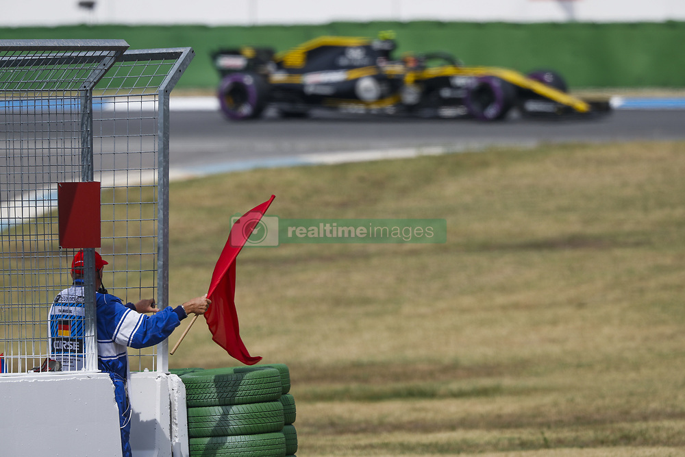 July 21, 2018 - Hockenheim, Germany - Motorsports: FIA Formula One World Championship 2018, Grand Prix of Germany, ..Red flag, rote Flagge  (Credit Image: © Hoch Zwei via ZUMA Wire)