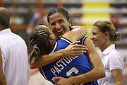 DESCRIZIONE : Elettra Pescara Giochi del Mediterraneo 2009 Mediterranean Games Italia Grecia Italy Greece Semifinal Women<br /> GIOCATORE : Chiara Pastore Mariachiara Franchini<br /> SQUADRA : Italia Italy<br /> EVENTO : Elettra Pescara Giochi del Mediterraneo 2009<br /> GARA : Italia Grecia Italy Greece<br /> DATA : 30/06/2009<br /> CATEGORIA : esultanza<br /> SPORT : Pallacanestro<br /> AUTORE : Agenzia Ciamillo-Castoria/C.De Massis<br /> Galleria : Giochi del Mediterraneo 2009<br /> Fotonotizia : Elettra Pescara Giochi del Mediterraneo 2009 Mediterranean Games Italia Grecia Italy Greece Semifinal Women<br /> Predefinita :