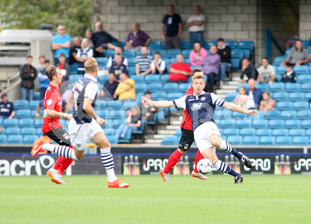 Tony Craig of Millwall during the Sky Bet League 1 match between Millwall and Coventry City at The Den, London, England on 15 August 2015. Photo by Edmund  Boyden.