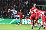 Brighton & Hove Albion winger Jamie Murphy (15) scores a goal 2-0 during the EFL Sky Bet Championship match between Bristol City and Brighton and Hove Albion at Ashton Gate, Bristol, England on 5 November 2016.