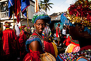 Dominican Republic: Mayores (Dance Majors) at the GaGá  procession of El GaGá de San Luis on the outskirts of Santo Domingo...