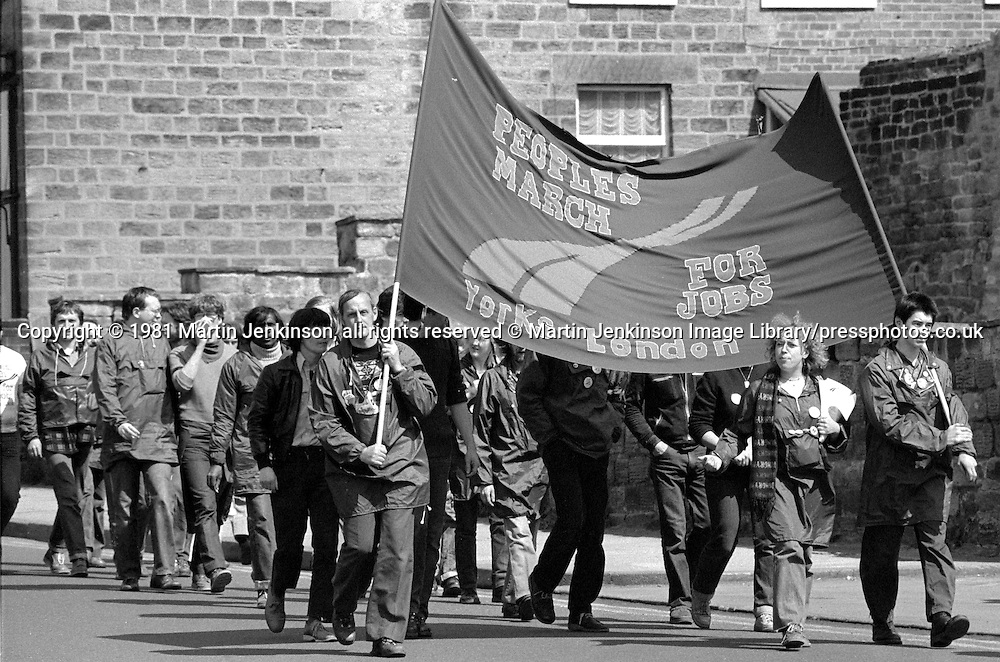 People's  March for Jobs, Yorkshire to London. Wakefield to Barnsley 05/05/1981