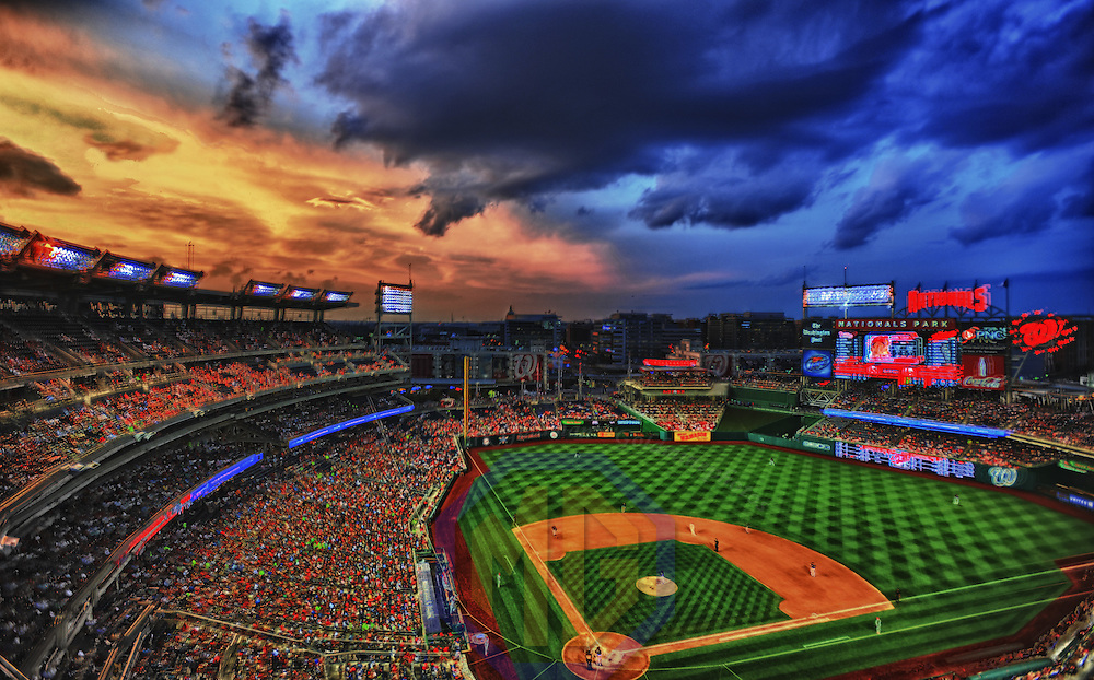 01 August 2012:  A 9 frame HDR image shot at Nationals Park in Washington, D.C. where the Philadelphia Phillies defeated the Washington Nationals, 3-2.