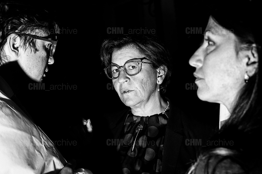 Elisabetta Trenta. Five-star movement members celebrate after the presentation of the budget targets during the council of ministers at Palazzo Chigi on September 27, 2018 in Rome. Christian Mantuano / Oneshot