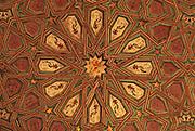 SPAIN, ANDALUSIA, SEVILLE Alcazar; 'Mudejar' inlaid ceiling