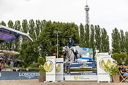 DUGUET Romain (SUI), Calder<br /> Berlin - Global Jumping Berlin 2018<br /> CSI5* Preis der Deutsche Vermögensberatung<br /> 1. Wertung für Global Champions League<br /> 27. Juli 2018<br /> © www.sportfotos-lafrentz.de/Stefan Lafrentz