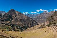 Pisac, Incas ruins in the peruvian Andes at Cuzco Peru
