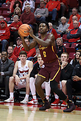 10 January 2018:  Donte Ingram during a College mens basketball game between the Loyola Chicago Ramblers and Illinois State Redbirds in Redbird Arena, Normal IL