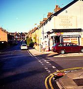 AWY79B Corner shop in street of terraced houses Ipswich Suffolk England