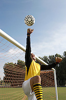 Soccer Goalie Making a Save