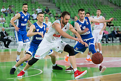 Mirza Begic of KK Petrol Olimpija Ljubljana during basketball match between KK Petrol Olimpija and KK Rogaska in 1st Semifinal match of Liga Nova KBM 2017/18, on May 9, 2018, in Arena Stozice, Ljubljana, Slovenia. Photo by Urban Urbanc / Sportida