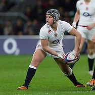 Bianca Blackburn in action, England Women v France Women in the 6 Nations at Twickenham Stadium, Twickenham, England, on 21st March 2015