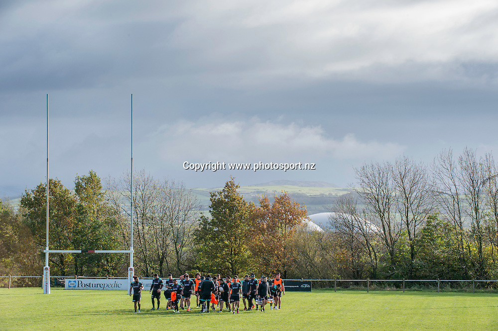 Picture by Allan McKenzie/SWpix.com - 10/11/2016 - Rugby League - 2016 Ladbrokes 4 Nations - New Zealand Kiwis Captains Run - Aspatria Rugby Club, Aspatria, England - A general view of the Kiwis Captains Run session at Aspatria rugby club, GV.