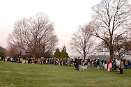 A glimpse of the sunrise Easter Service around the Deeds Carillon at Carillon Historical Park in Dayton, Sunday, April 4, 2010.