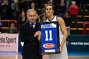 premiazione masciadri, Gianni Petrucci<br /> Italia Italy - Svezia Sweden<br /> Eurobasketwomen Qualifiers 2018/19<br /> FIP 2018/19<br /> La Spezia, 21/11/2018<br /> Foto MarcoBrondi // CIAM