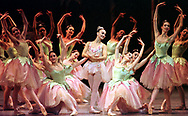 "Valerie Amiss, center, of the Pennsylvania Ballet, rehearses ""The Nutcracker"" with other members of the dance company, Thursday, Dec. 3, 1998, at the Academy of Music in Philadelphia. Performances run from Dec. 5, 1998-Jan. 2, 1999. (AP Photo/ William Thomas Cain)"