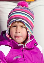 Child during the Men 10 km Sprint of the e.on IBU Biathlon World Cup on Saturday, December 18, 2010 in Pokljuka, Slovenia. The fourth e.on IBU World Cup stage is taking place in Rudno polje - Pokljuka, Slovenia until Sunday December 19, 2010. (Photo By Vid Ponikvar / Sportida.com)