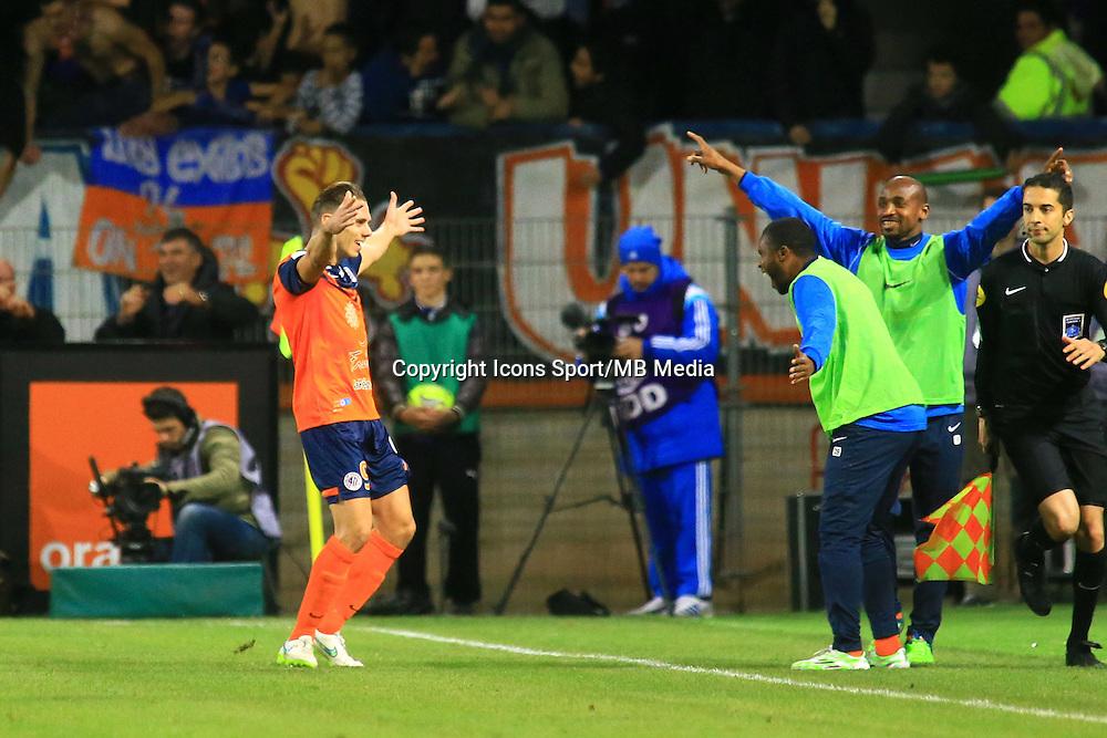 joie Kevin BERIGAUD - 09.01.2015 - Montpellier / Marseille - 20eme journee de Ligue 1<br />Photo : Nicolas Guyonnet / Icon Sport