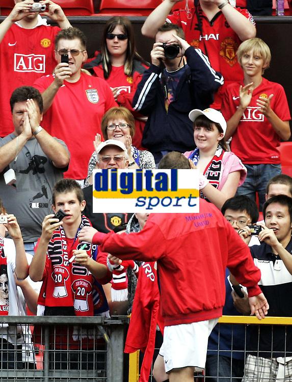 Fotball<br /> Old Trafford<br /> 02.08.08<br /> Manchester United - Espanyol<br /> Testimonial<br /> Ole Gunnar Solskj&aelig;r <br /> Foto - Kasper Wikestad