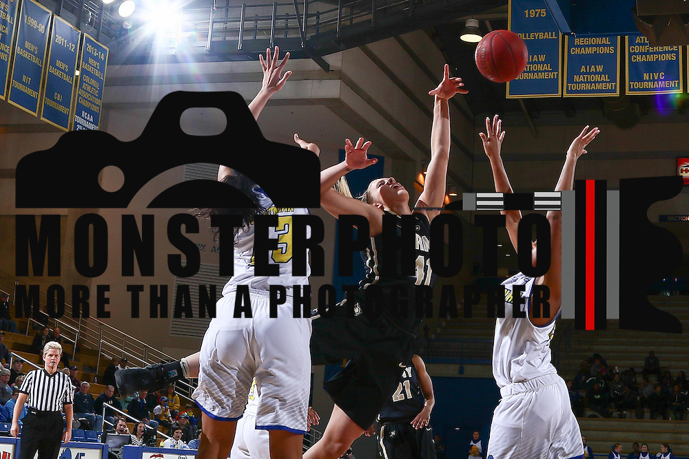 Army West Point Forward Madison Hovren (41) drives to the basket as Delaware Forward Sadé Chatman (13) defends during a regular-season non conference game between Delaware and Army West Point Sunday, Dec. 11, 2016, at the Bob Carpenter Center in Newark Delaware.