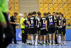 Players of Germany during handball match between National teams of Germany and France in Semifinal of 2018 EHF U20 Men's European Championship, on July 25, 2018 in Arena Zlatorog, Celje, Slovenia. Photo by Urban Urbanc / Sportida