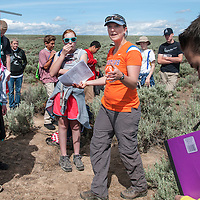 Jen Forbey, Biology, sage brush steppe research, graduate students, Idaho Watch program, Heritage Middle School, Carrie Quinney photo