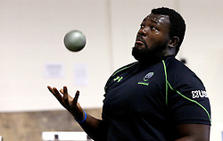Derrick Appiah of Worcester Warriors attempts to catch a ball during pre-season training - Mandatory by-line: Robbie Stephenson/JMP - 07/06/2016 - RUGBY - Worcester Warriors - Pre-season training session