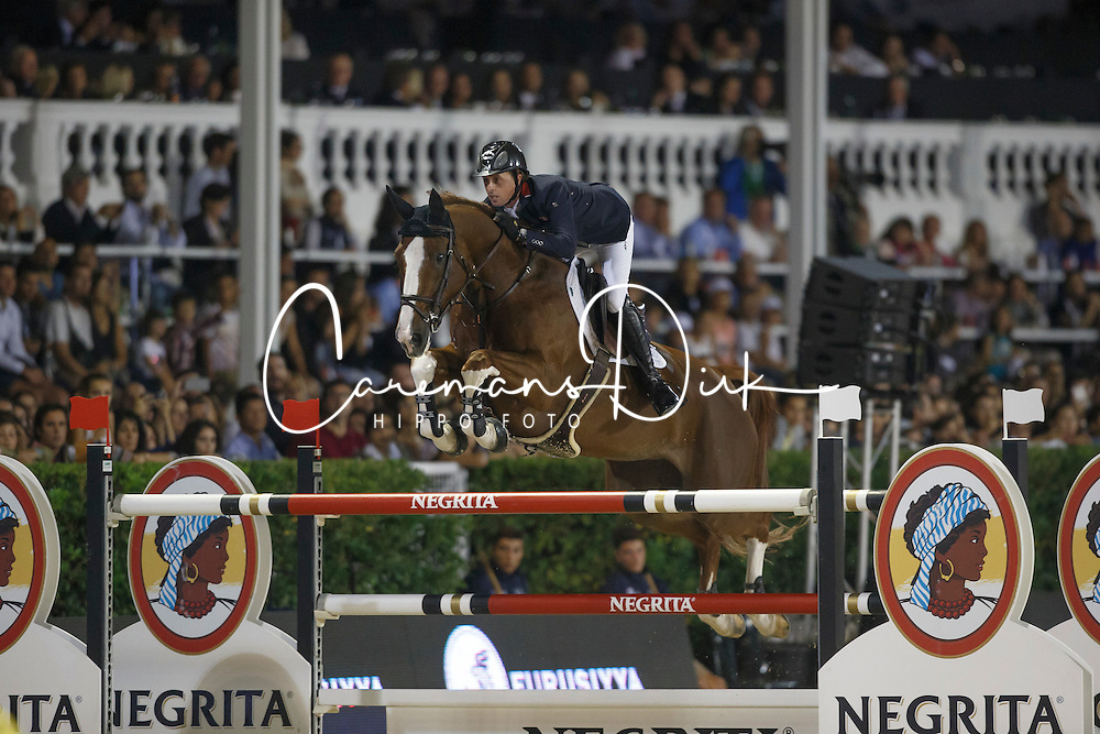 Maher Ben, (GBR), Diva II<br /> Final<br /> Furusiyya FEI Nations Cup Jumping Final - Barcelona 2015<br /> &copy; Dirk Caremans<br /> 26/09/15