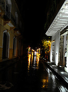 The glitzy, boutique Aqua Bar and Hotel on a narrow, cobblestone street of Cartagena, Colombia.