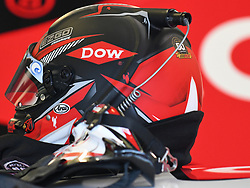 February 23, 2019 - Hampton, GA, U.S. - HAMPTON, GA - FEBRUARY 23: The helmet of Austin Dillon, Richard Childress Racing, Chevrolet Camaro Dow (3) sits on top of the car during practice for the Monster Energy Cup Series QuikTrip Folds of Honor 500 on February 23, 2019, at Atlanta Motor Speedway in Hampton, GA.(Photo by Jeffrey Vest/Icon Sportswire) (Credit Image: © Jeffrey Vest/Icon SMI via ZUMA Press)