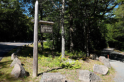 Sign for a Carriage Road, Acadia National Park, Maine, United States of America