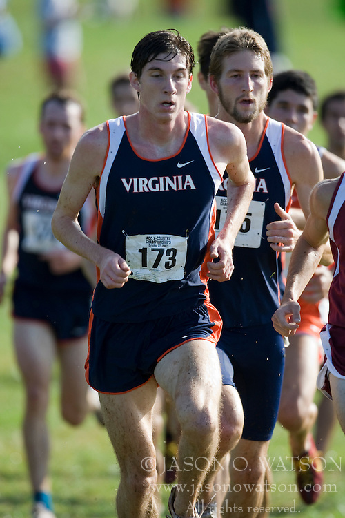Virginia Cavaliers Andy Biladeau (173)..The Atlantic Coast Conference Cross Country Championships were held at Panorama Farms near Charlottesville, VA on October 27, 2007.  The men raced an 8 kilometer course while the women raced a 6k course.