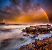 Rainbow Sunset, Gerringong, NSW, Australia