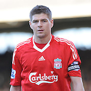 Steven Gerrard of Liverpool. Fulham v Liverpool, Barclays Premier League,  Craven Cottage,  London. 4th April 2009.